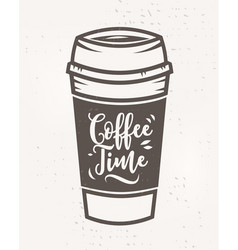 Coffee time poster with cool design vector