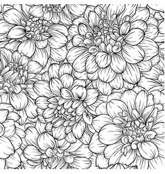 Beautiful monochrome black and white seamless vector