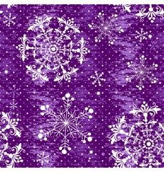 Seamless violet christmas grunge pattern vector image