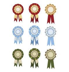 Set of rosettes vector