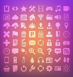 64 Universal Flat Icon Set for web desighers ui vector image