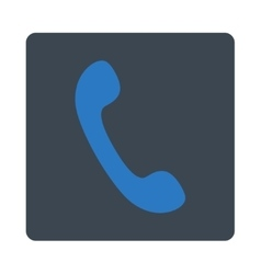Phone flat smooth blue colors rounded button vector