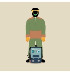 Welder and welding machine vector