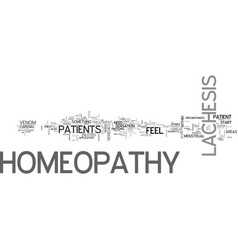 A look at lachesis homeopathy text word cloud vector