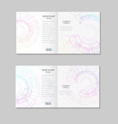 abstract brochure template with technology round vector image