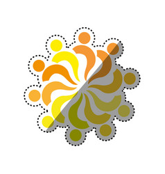 abstract people symbol vector image