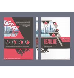 Annual report brochure template vector