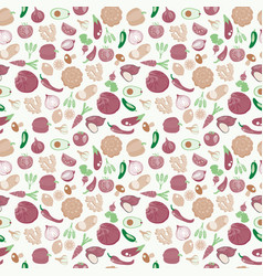 background of fresh and healthy food vegetables vector image