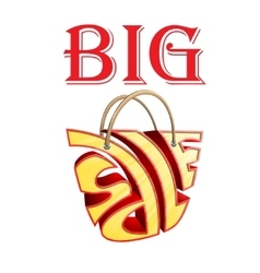 Big sale bag vector image