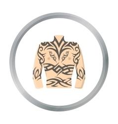 Body tattoo icon cartoon Single tattoo icon from vector image vector image
