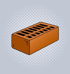 brick pop art vector image vector image