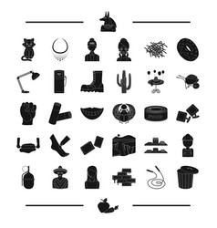 Brick skipping rope tank and other web icon in vector