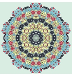 Bright coloured seamless mandala vector