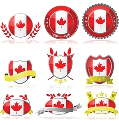 Canada badges vector image