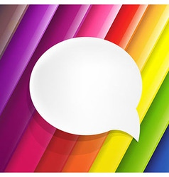 Color Background With Speech Bubble vector image vector image