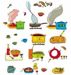 colorful food vector image vector image