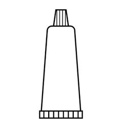 Cream tube icon outline style vector