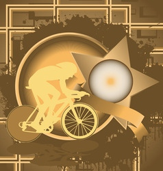cyclist vintage design vector image