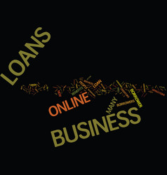 For hassle free business loans try online vector