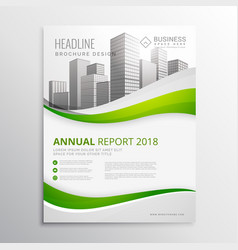 Green real estate business brochure template vector