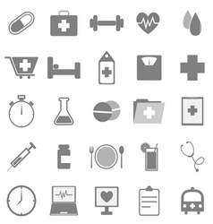 Health icons on white background vector