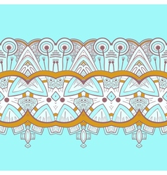 Horizontal lace steampunk ornament ornamental vector image