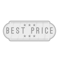 Label best price icon gray monochrome style vector
