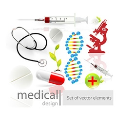 Medical business template design vector