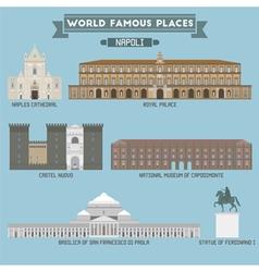 Napoli famous places vector