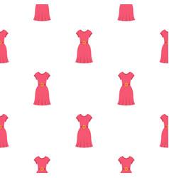 Pink dress pattern seamless vector