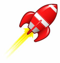 retro rocket ship vector image