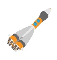 Rocket space ship cartoon icon vector image vector image
