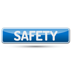 Safety - abstract beautiful button with text vector