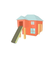 Sawmill building icon in cartoon style vector image