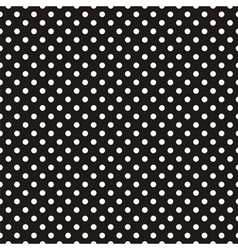 Seamless pattern white polka dots black background vector image vector image