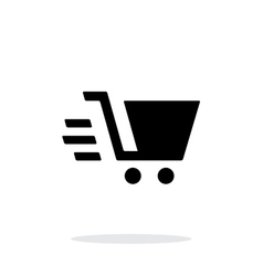 Shopping cart simple icon on white background vector image vector image