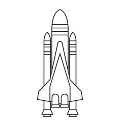 Shuttle icon outline style vector