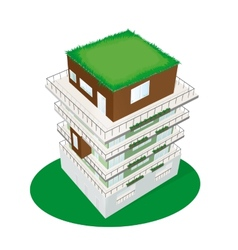 Top view of a building vector