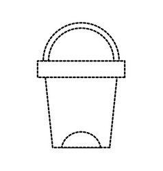 Trash can bathroom tool plastic cleaning vector
