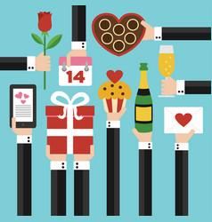 Valentines day concept modern flat design vector