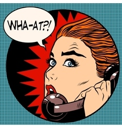 what a woman speaks on the phone vector image vector image