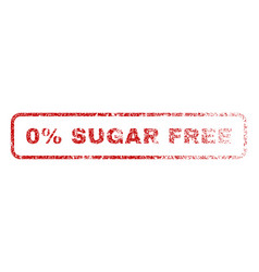 0 percent sugar free rubber stamp vector