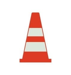 Cone industrial security icon vector