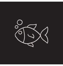 Small fish sketch icon vector image