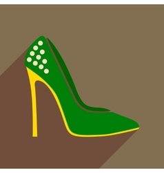 Flat icon with long shadow stiletto heels vector