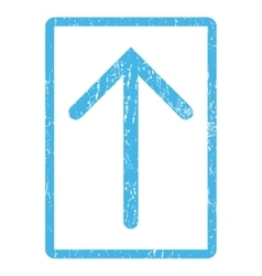 Arrow up icon rubber stamp vector