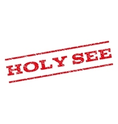 Holy see watermark stamp vector