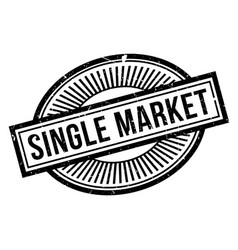 Single market rubber stamp vector