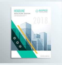 Elegant business brochure design template cover vector