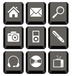 Keyboard icon set vector